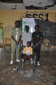 L-R: Corp member-Aron Smiggle, Godknows Atata's dad, Vincent Adeoba and Godknows Atata