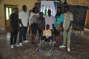 Godknows Atat with a team of teachers of the Government Secondary School, Okarki