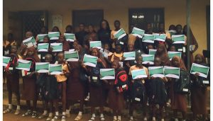 The IAF team with the IAF Scholarship student Beneficiaries of Durba Community High School, Oyo
