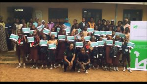 The IAF team with Student Beneficiaries and Teachers of Durba Community High School, Oyo